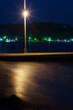 Pier Against Dark Sea Fotografía de archivo libre de regalías
