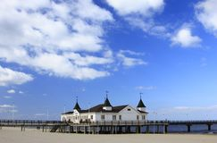 Pier of Ahlbeck Stock Photo