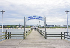 Pier in Ahlbeck. Isle Usedom, Baltic Sea Stock Images
