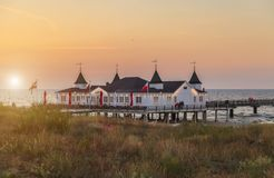 Pier Ahlbeck - Baltic Sea. Germany stock photography