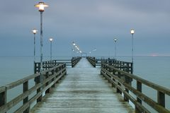 Pier in Ahlbeck Royalty Free Stock Image