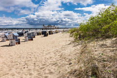 The pier in Ahlbeck on the island Usedom. (Germany Royalty Free Stock Photography