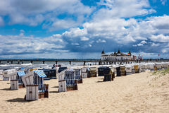 The pier in Ahlbeck on the island Usedom. Germany Royalty Free Stock Images