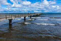 The pier in Ahlbeck on the island Usedom Stock Images