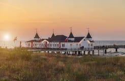 Pier Ahlbeck - mar Báltico Fotografía de archivo