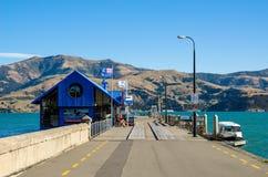 Pier in Akaroa Stock Afbeeldingen