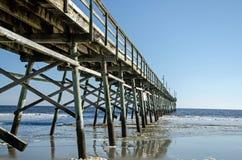 Pier ,Alantic Coast. Pier off the North Carolina Coast ,Sunset Beach stock photo