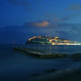 Pier in Alanya at night Royalty Free Stock Photos