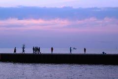 The Pier Along Lake Michigan Royalty Free Stock Photos