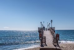 Pier along waterfront