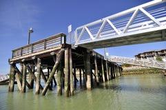Pier and aluminium alloy bridges Stock Image
