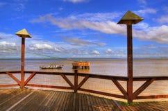 Pier in Amazonia stock photos