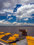 Pier in Amazonia. Anchorage of the Port of Belem (Amazonia) - Brazil - It is one of the little ports of South America royalty free stock images