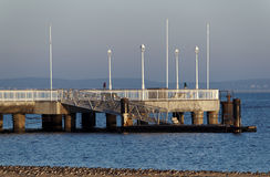 Pier in  arcachon Royalty Free Stock Image