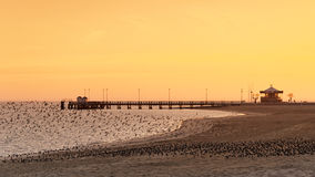 Pier in  arcachon beach Stock Images