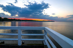 Pier. Area(Molo) taken in Sopot, Poland Royalty Free Stock Photography