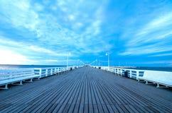 Pier. Area(Molo) taken in Sopot, Poland Royalty Free Stock Photo