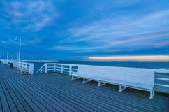 Pier. Area(Molo) taken in Sopot, Poland Royalty Free Stock Image