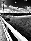 The pier. Artistic look in black and white. Royalty Free Stock Photography