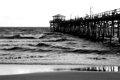 Pier at Atlantic Beach, North Carolina.  Stock Image