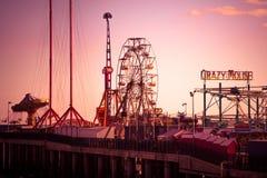 Pier Atlantic City de acero NJ Imagen de archivo