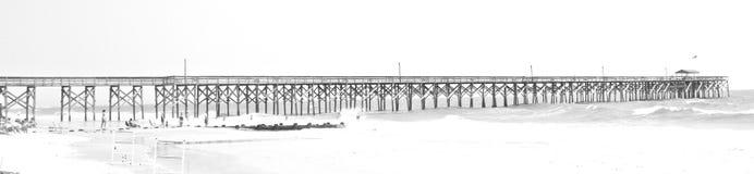 Pier Atlantic Ocean Paulie Island Carolina del Sur fotografía de archivo libre de regalías