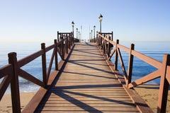 Pier auf Costa Del Sol in Marbella Stockfotos
