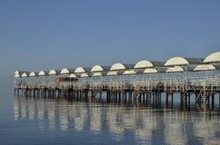 Pier auf dem Meer Lizenzfreies Stockbild