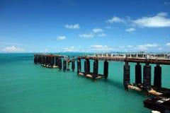 Pier auf dem Nathon Towm Stockfotos