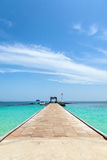 Pier auf der Insel von Maiton, Thailand Lizenzfreies Stockfoto