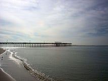 Pier auf Golf-Küste Lizenzfreie Stockfotografie