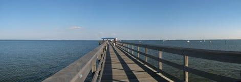 Pier auf Golf von Mexiko Lizenzfreie Stockbilder