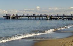 Pier auf Ostsee, Gdask, Polen Stockbilder