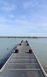 Pier auf See Stockfoto