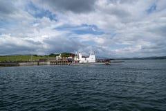Pier auf Whiddy-Insel stockfotografie