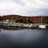 Pier in Autumn royalty free stock image