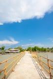 Pier in Bagan Pasir, een visserijdorp Stock Fotografie