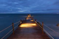Pier in Bali Stockfoto