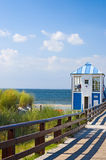 Pier Baltic sea. Beautiful landscape seaside and pier at Baltic sea Royalty Free Stock Photo