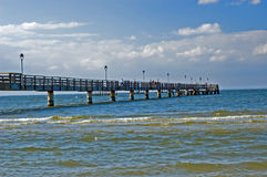 Pier Baltic sea. Beautiful landscape seaside and pier at Baltic sea Royalty Free Stock Photography