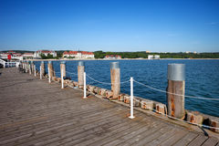 Pier on Baltic Sea Bay in Sopot Royalty Free Stock Photo