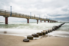 Pier on the Baltic Sea coast in Zingst Stock Photography