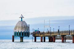 Pier on the Baltic Sea coast in Zingst, Germany Royalty Free Stock Photos
