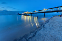 Pier at the Baltic Sea at dawn Royalty Free Stock Photos