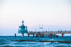 Pier at the Baltic Sea Royalty Free Stock Images