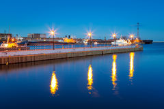 Pier at the Baltic Sea in Gdynia Stock Photos