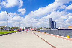 Pier at the Baltic Sea in Gdynia Stock Image