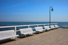 Pier at Baltic Sea in Gdynia Orlowo Royalty Free Stock Images
