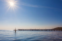 Pier in the Baltic Sea - Gdynia, Poland Stock Images