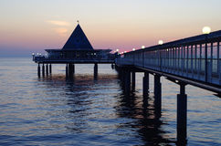 Pier at the baltic sea in heringsdorf in germany Royalty Free Stock Photos